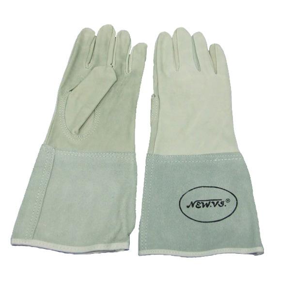 ถุงมือหนังผิวฟอก 12 นิ้ว(เชื่อมอาร์กอน)