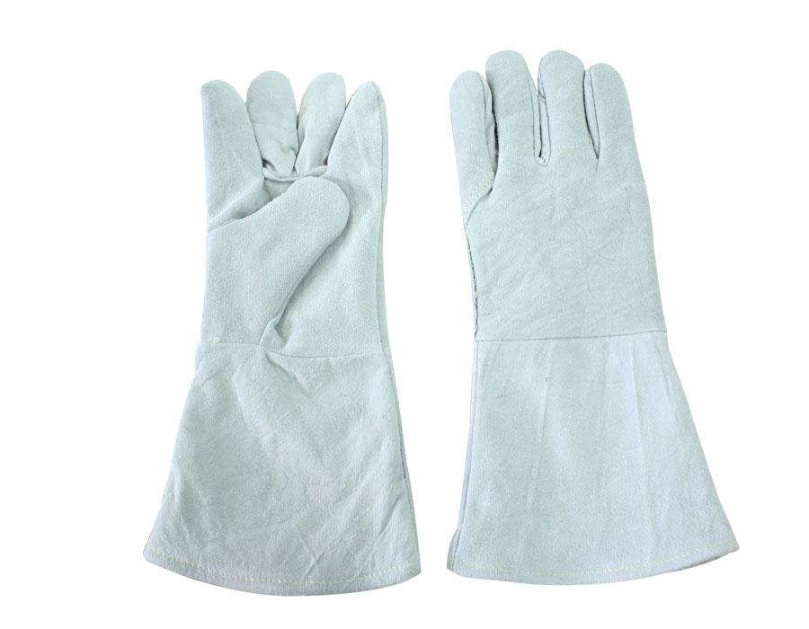 ถุงมือหนังมีซับในยาว 13 นิ้ว