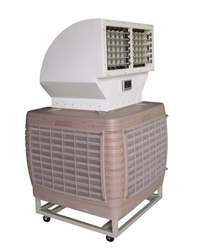 KS2P-18C210-AO :Evaporative air cool mobile type (Airflow 18,000 m3/hr)